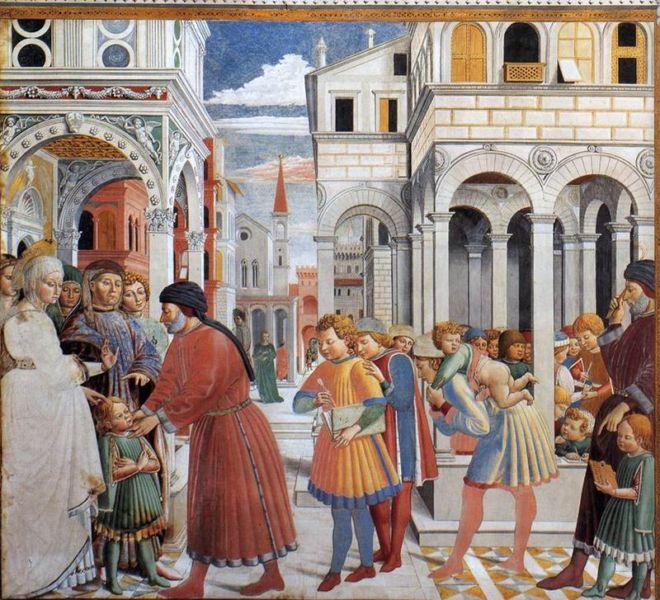 Church of Saint Augustin in San Gimignano