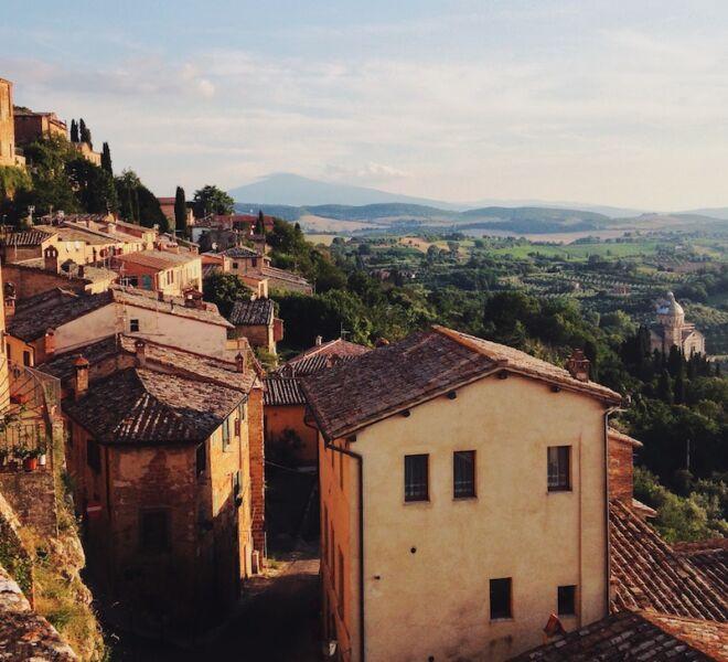 vista di Montepulciano in Toscana