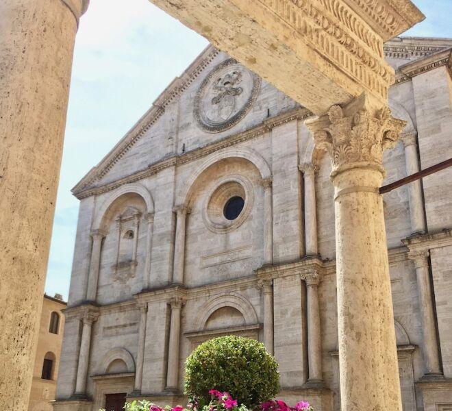 cattedrale di Pienza in val d'orcia