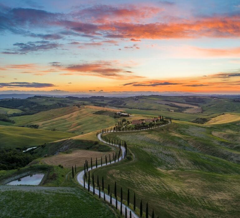 Tramonto in Val d'Orcia Toscana
