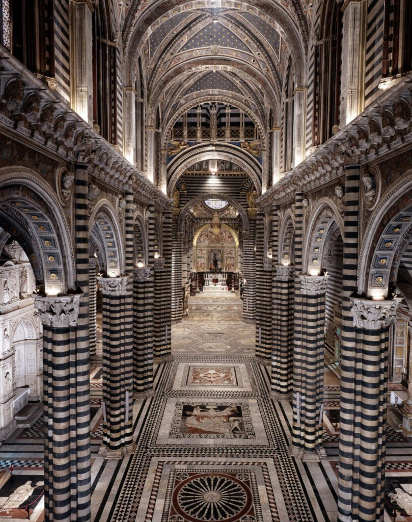 floor of the Cathedral of Siena uncovered - guided tour